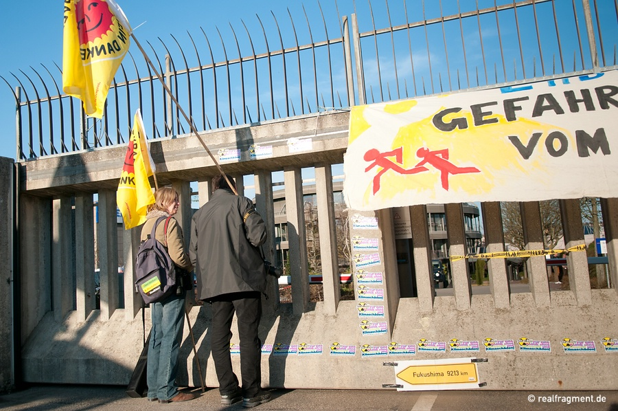 Anti-atomic protest in front of the power plant Neckarwestheim, March 2011